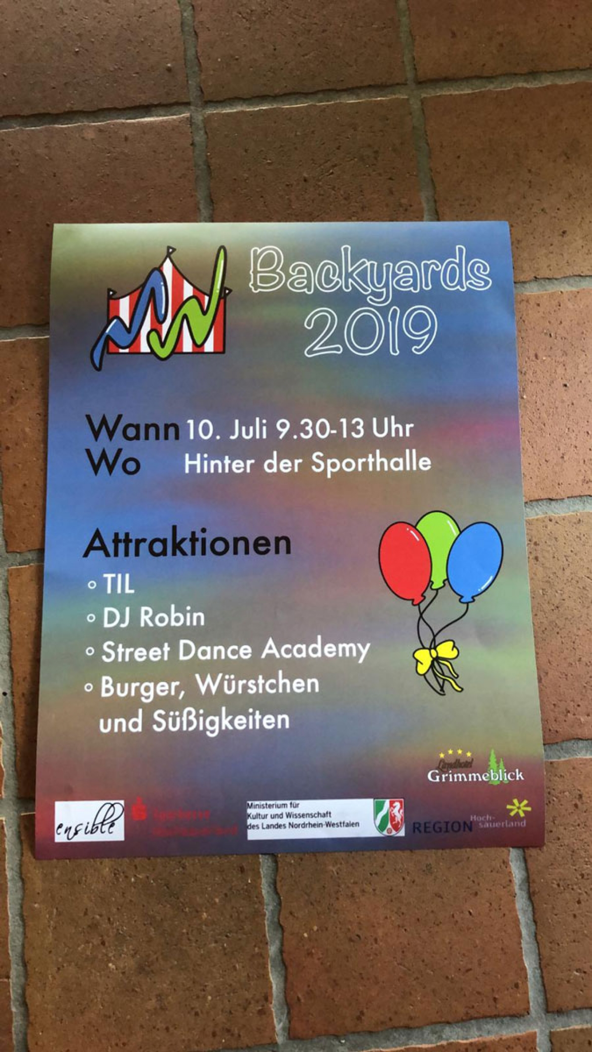 Backyards-Schulhoffestival 2019